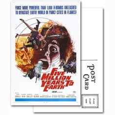 Five Million Years to Earth Movie Poster Postcard