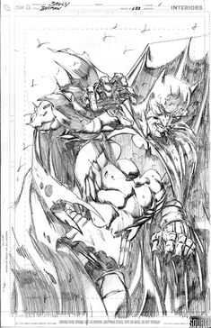 Batman #688 Page 1 splash by Mark Bagley