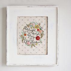 Be Joyful embroidery pattern PDF ~ nanCompany