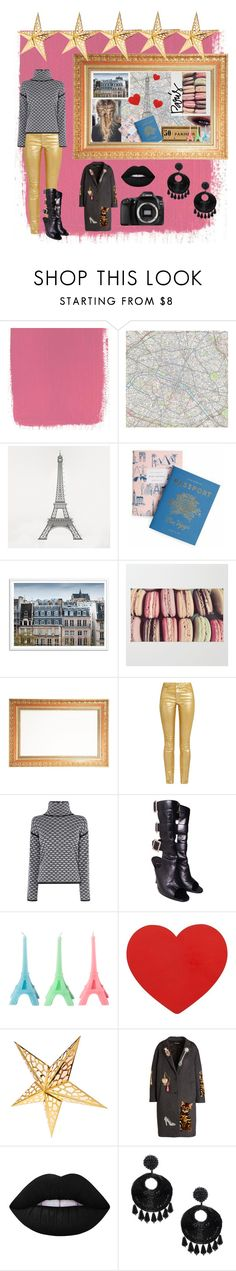 """Paris fashion get-away 1"" by nalinocando ❤ liked on Polyvore featuring DOMESTIC, Rifle Paper Co, Étoile Isabel Marant, Karen Millen, Gina, Cultural Intrigue, Dolce&Gabbana, Lime Crime, Eos and Kenneth Jay Lane"