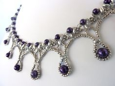 FREE beading pattern for Framed Pearl Drops necklace