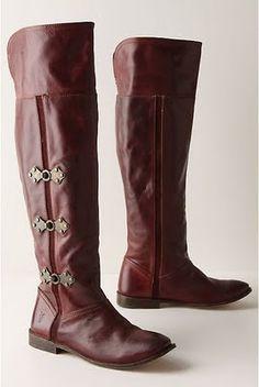 Anthropologie Cranberry Bog Boots