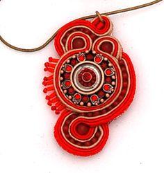 naszyjnik wisior sutasz soutache pendant necklace 22