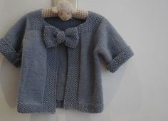tricoter gilet bebe fille
