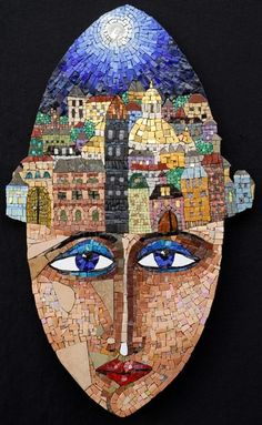 Irina Charny Mosaics: ''In a land far, far away...'' Smalti, porcelain, stone, millefiori, gold, beads, 2007
