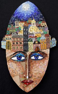 Irina Charny Mosaics: ''In a land far, far away...'' Smalti, porcelain, stone, millefiori, gold, beads, 2007