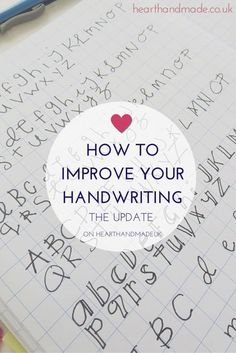 If i had time for hobbies- how to develop fun freehand fonts for  cards, decor, etc How-To-Improve-Your-Writing Perfect Handwriting, Improve Your Handwriting, Penmanship Practice, Handwriting Analysis, How To Improve Yourself, Lettering, Calligraphy, Blog, Tips