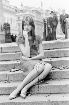 Francoise Hardy, filming on Exhibition Road in London, 11th October 1965. Francoise Hardy is filming a one hour special, titled Françoise in London, due to be aired on french television at Christmas....