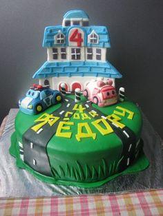 Robocar Poli, Fondant, Birthday Cake, Search, Party, Desserts, Food, Tailgate Desserts, Essen