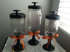 Kool idea ;-) Mason Jar Candy Pedestals