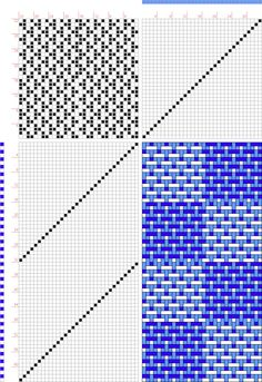 draft image: checkerboard turned taquete, turned version of standard taquete draft, 4S, 5T