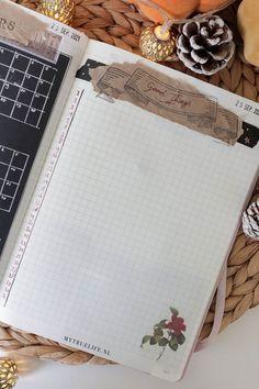 Dark academia journal setup for October 2021 - My True Life October, Journal, Dark, Life
