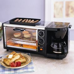 Save space in your kitchen by using a multi-functionality  cooker! These units combine your coffee maker with your toaster and more to give you more space to cook.
