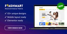Design 3 Ready in FlashMart – Multipurpose Elementor WooCommerce WordPress Theme Professional Wordpress Themes, Premium Wordpress Themes, Homepage Design, All Themes, Wedding Store, Online Shopping Websites