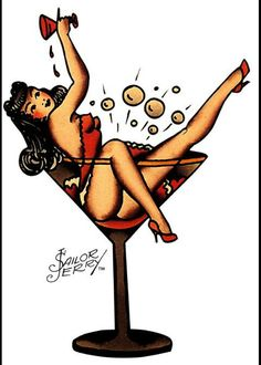 Pin up girl sailor jerrys