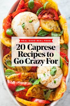 From the best caprese salads to caprese skewers and the classic caprese sandwich, this list of 20 favorite recipes will have you going crazy for caprese. Pinchos Caprese, Ensalada Caprese, Caprese Skewers, Caprese Salad, Caprese Recipe, Real Food Recipes, Great Recipes, Chicken Recipes, Favorite Recipes