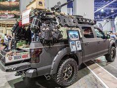 2015 SEMA with Truck Vault and Bushwacker Fenders and Bed Rack 2015 Trucks, Custom Trucks, Cool Trucks, Chevy Trucks, Pickup Trucks, Lifted Chevy, Chevy Pickups, Off Road Camping, Jeep Camping
