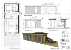 Another version of tidy SIP-OAK frame holiday home for couple. With flat roof lantern and oak bi-fold doors.