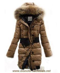 Moncler LUCIE New Women Pop Star Khaki Coat Down Outlet