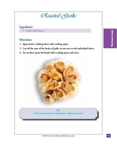 Cohen Diet Recipes, Banting Diet, Garlic Head, Roast, Recipies, Healthy Eating, Yummy Food, Dishes, Baking