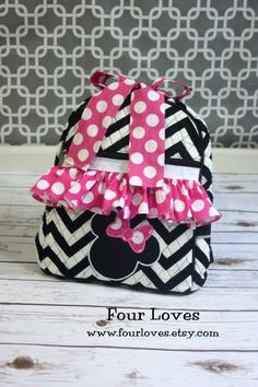 Toddler Minnie Mouse Backpack by FourLoves on Etsy