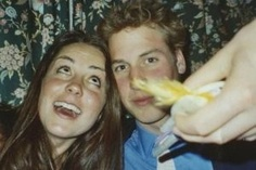 Kate Middleton and Prince William...long ago.