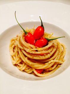 Spaghetti di Kamut con Bottarga Limone e Bacche di Goji - Ombra in Cucina