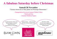 Inauguration du nouvel espace Elodie Cohen, Ventes privées, Journée Madame Figaro... Faites vous plaisir au Printemps Haussmann !
