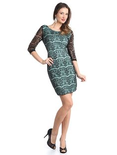 Lace Overlay Cocktail Dress. Style #: CE2350. Get yours today at www.SungBoutiqueLA.com