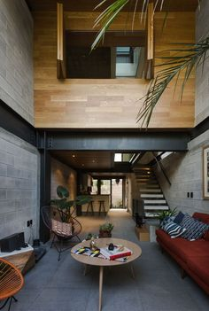 Dope or nope? The Townhouses Hipódromo is designed by envase and is located in // Photo by Onnis Luque - Architecture and Home Decor - Bedroom - Bathroom - Kitchen And Living Room Interior Design Decorating Ideas - Loft Design, Tiny House Design, Design Design, Design Ideas, Home Interior Design, Interior Architecture, Room Interior, Apartment Interior, Townhouse Interior