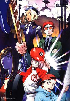 Old Anime & Cyberpunk Manga Art, Manga Anime, Anime Art, Flcl Haruko, Furi Kuri, Little Busters, Old Anime, Kawaii, Neon Genesis Evangelion