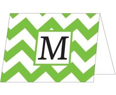 initial note cards kelly chevron initial folded note card lemon tree paperie - Initial Note Cards