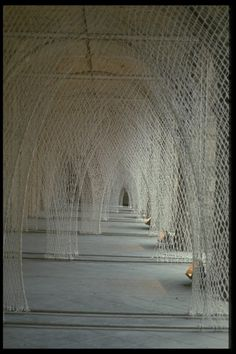 Toshiko Horiuchi MacAdam Japanese artist who knits her architectural works by hand