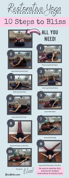 Want to know the best self care practice for stress relief? This easy restorative yoga sequence is truly self care bliss! Restorative Yoga Sequence, Yoga Sequences, Yin Yoga, Yoga Meditation, Advanced Yoga, Learn Yoga, Womens Wellness, Relaxing Yoga, Yoga For Flexibility