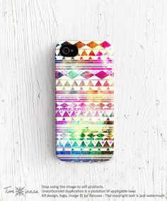 Aztec iPhone 5 case Tribal iPhone 4 case triangle by TonCase, $23.99