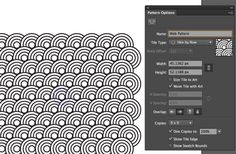 The Pattern Options dialog enables you to control how your pattern repeats #illustrator #tutorial