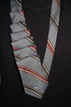 repurposed tie scarf