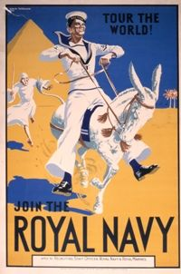 Royal Navy recruitment poster from the 1920s