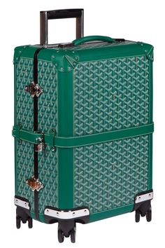 There's a soft- and hard-sided trolley for every class of traveler. Goyard Luggage, Pink Luggage, Luggage Sale, Goyard Bag, Luggage Brands, Vintage Luggage, Travel Luggage, Luggage Suitcase, Travel Bags