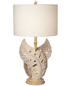 Closeout! Pacific Coast Bahama Leaf Resin Table Lamp