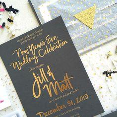Confetti New Years Invitation