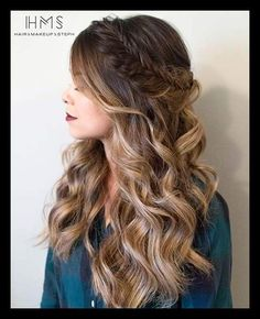 wavy prom hairstyles for long hair best 25 long prom hair ideas on ... | WomanAdvise - WOMANADVISE.COM