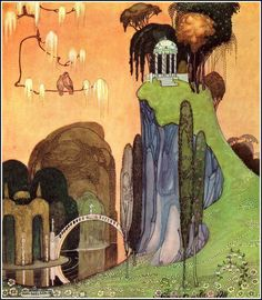 Illustration from In Powder and Crinoline by Kay Nielsen