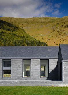 Killowen House by Hall McKnight, a stone twin farm building in the Lough | #stone #architecture #design