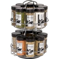 Spice Rack Ideas for Both Roomy or Cramped Kitchen and Other Rooms. Tags : Kitchen spice storage, Kitchen rack design and DIY storage ideas for kitchen. Countertop Spice Rack, Kitchen Spice Racks, Spice Jars, Camper Hacks, Spice Rack Walmart, Revolving Spice Rack, Glass Bathroom Sink, Small Space Kitchen, Kitchen Gadgets