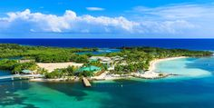 Panoramic view of the Roatan Island, Honduras