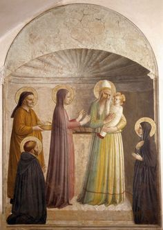Fra Angelico, Religious Paintings, Religious Art, Italian Renaissance, Renaissance Art, Jesus In The Temple, La Madone, Life Of Christ, Mystique