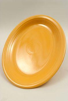 Original Yellow Vintage Fiesta Large Oval Platter