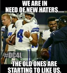 Any new haters care to join? Dallas Cowboys Quotes, Dallas Cowboys Pictures, Cowboy Pictures, Cowboys 4, Dallas Cowboys Football, Football Memes, Sports Memes, Pittsburgh Steelers, Football Players