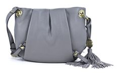 Vince Camuto Cristina Crossbody Gray Leather Shoulder Bag Purse - http://handbagscouture.net/brands/vince-camuto/vince-camuto-cristina-crossbody-gray-leather-shoulder-bag-purse/